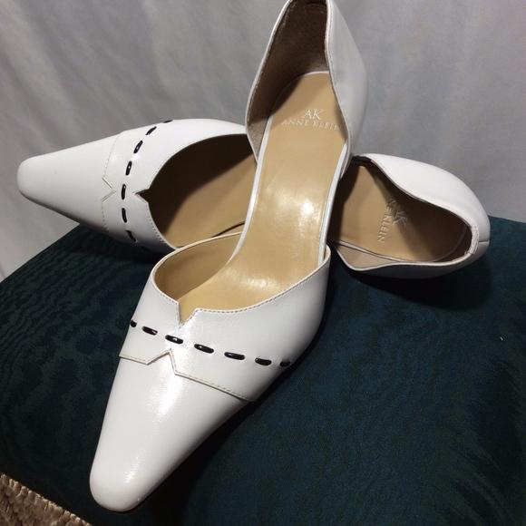 Anne Klein Shoes - Anne Klein White Leather Heels